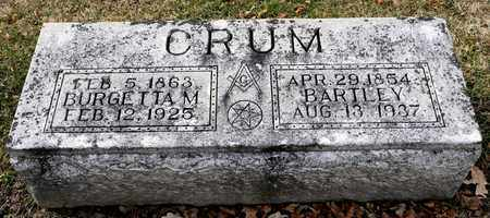 CRUM, BARTLEY - Richland County, Ohio | BARTLEY CRUM - Ohio Gravestone Photos
