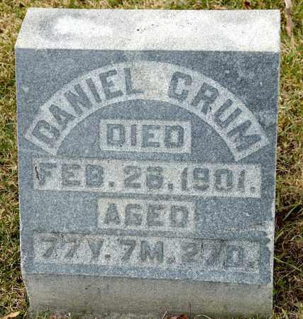 CRUM, DANIEL - Richland County, Ohio | DANIEL CRUM - Ohio Gravestone Photos