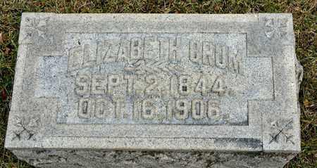 CRUM, ELIZABETH - Richland County, Ohio | ELIZABETH CRUM - Ohio Gravestone Photos