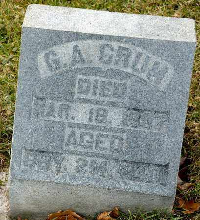 CRUM, G A - Richland County, Ohio | G A CRUM - Ohio Gravestone Photos