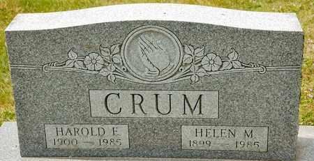 CRUM, HELEN M - Richland County, Ohio | HELEN M CRUM - Ohio Gravestone Photos