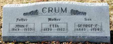 CRUM, ETTA - Richland County, Ohio | ETTA CRUM - Ohio Gravestone Photos