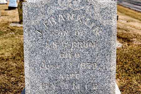 CRUM, J FRANKLIN - Richland County, Ohio | J FRANKLIN CRUM - Ohio Gravestone Photos