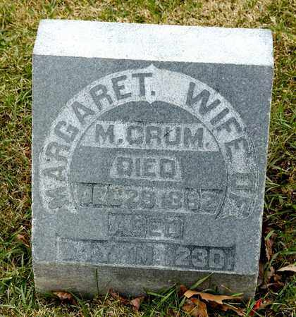 CRUM, MARGARET - Richland County, Ohio | MARGARET CRUM - Ohio Gravestone Photos