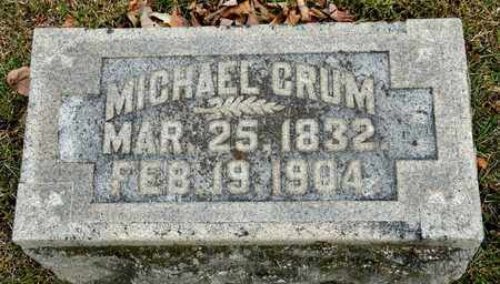 CRUM, MICHAEL - Richland County, Ohio | MICHAEL CRUM - Ohio Gravestone Photos