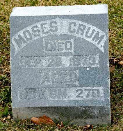 CRUM, MOSES - Richland County, Ohio | MOSES CRUM - Ohio Gravestone Photos