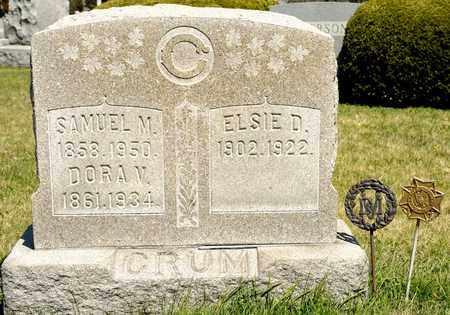 CRUM, SAMUEL M - Richland County, Ohio | SAMUEL M CRUM - Ohio Gravestone Photos