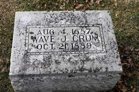 CRUM, WAVE J - Richland County, Ohio | WAVE J CRUM - Ohio Gravestone Photos