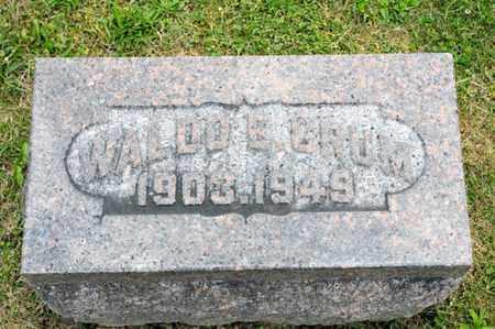 CRUM, WALDO E - Richland County, Ohio | WALDO E CRUM - Ohio Gravestone Photos