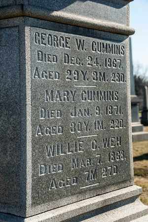 CUMMINS, MARY - Richland County, Ohio | MARY CUMMINS - Ohio Gravestone Photos