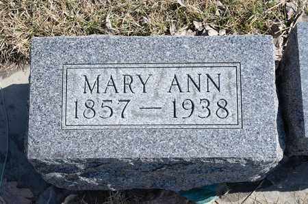 CURRAN, MARY ANN - Richland County, Ohio | MARY ANN CURRAN - Ohio Gravestone Photos