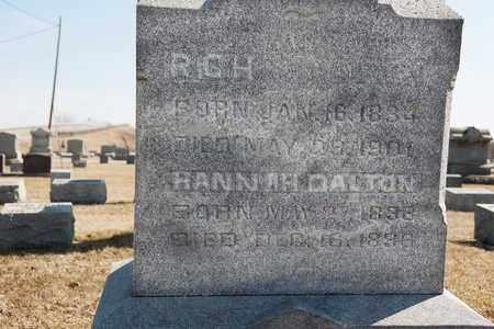 DALTON, HANNAH - Richland County, Ohio | HANNAH DALTON - Ohio Gravestone Photos