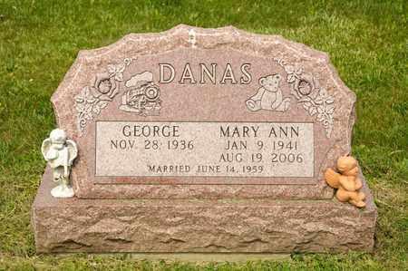 DANAS, MARY ANN - Richland County, Ohio | MARY ANN DANAS - Ohio Gravestone Photos