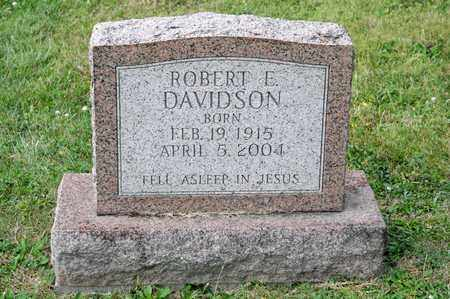 DAVIDSON, ROBERT E - Richland County, Ohio | ROBERT E DAVIDSON - Ohio Gravestone Photos
