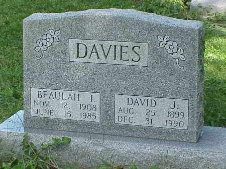 DAVIES, BEAULAH I. - Richland County, Ohio | BEAULAH I. DAVIES - Ohio Gravestone Photos
