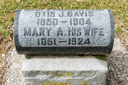 DAVIS, MARY - Richland County, Ohio | MARY DAVIS - Ohio Gravestone Photos