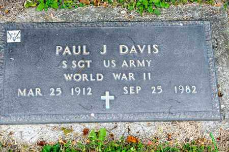 DAVIS, PAUL J - Richland County, Ohio | PAUL J DAVIS - Ohio Gravestone Photos