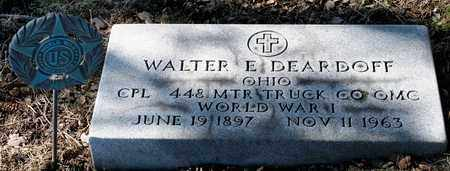 DEARDOFF, WALTER E - Richland County, Ohio | WALTER E DEARDOFF - Ohio Gravestone Photos