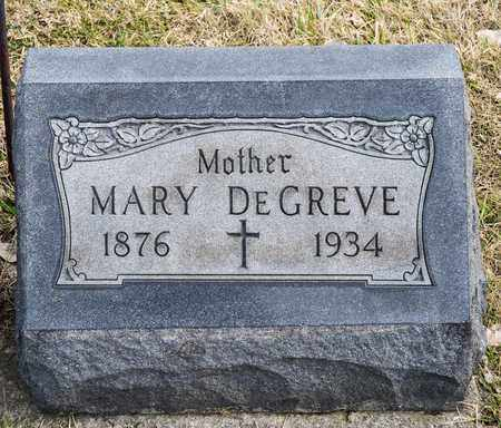 DEGREVE, MARY - Richland County, Ohio | MARY DEGREVE - Ohio Gravestone Photos