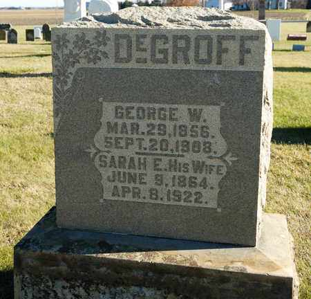 DEGROFF, SARAH E - Richland County, Ohio | SARAH E DEGROFF - Ohio Gravestone Photos