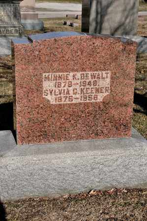 DEWALT, MINNIE K - Richland County, Ohio | MINNIE K DEWALT - Ohio Gravestone Photos