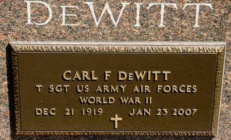 DEWITT, CARL F - Richland County, Ohio | CARL F DEWITT - Ohio Gravestone Photos