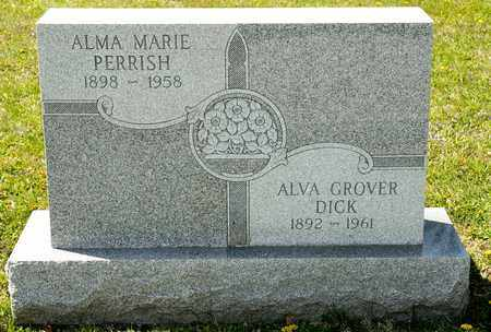DICK, ALVA GROVER - Richland County, Ohio | ALVA GROVER DICK - Ohio Gravestone Photos