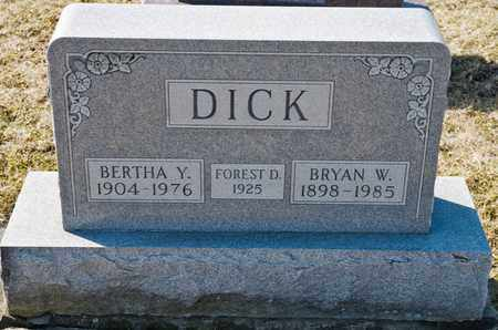 DICK, BERTHA Y - Richland County, Ohio | BERTHA Y DICK - Ohio Gravestone Photos
