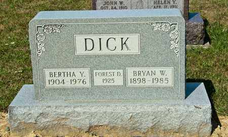 DICK, BRYAN W - Richland County, Ohio | BRYAN W DICK - Ohio Gravestone Photos