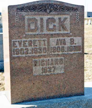 DICK, AVA B - Richland County, Ohio | AVA B DICK - Ohio Gravestone Photos