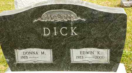 DICK, EDWIN K - Richland County, Ohio | EDWIN K DICK - Ohio Gravestone Photos