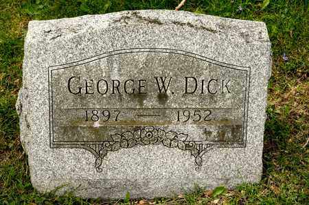 DICK, GEORGE W - Richland County, Ohio | GEORGE W DICK - Ohio Gravestone Photos