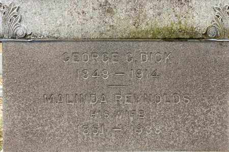 DICK, GEORGE G - Richland County, Ohio | GEORGE G DICK - Ohio Gravestone Photos