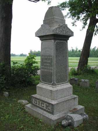 DICK, SARAH - Richland County, Ohio   SARAH DICK - Ohio Gravestone Photos