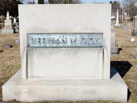 DICK, HERMAN M - Richland County, Ohio | HERMAN M DICK - Ohio Gravestone Photos