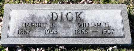 DICK, WILLIAM H - Richland County, Ohio | WILLIAM H DICK - Ohio Gravestone Photos