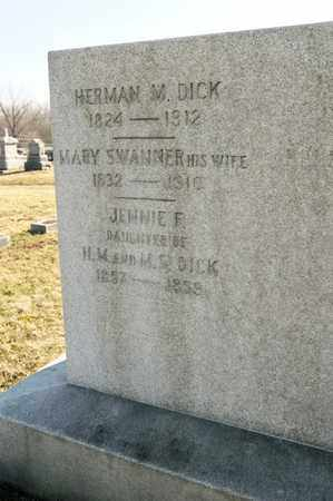 SWANNER DICK, MARY - Richland County, Ohio | MARY SWANNER DICK - Ohio Gravestone Photos