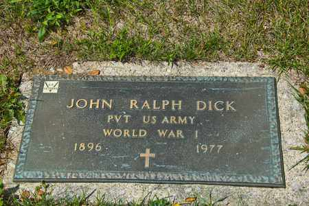 DICK, JOHN RALPH - Richland County, Ohio   JOHN RALPH DICK - Ohio Gravestone Photos