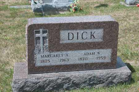 DICK, ADAM W - Richland County, Ohio | ADAM W DICK - Ohio Gravestone Photos