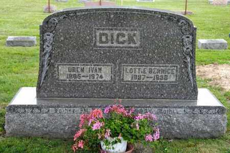 DICK, LOTTIE BERNICE - Richland County, Ohio | LOTTIE BERNICE DICK - Ohio Gravestone Photos