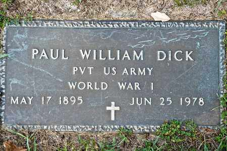 DICK, PAUL WILLIAM - Richland County, Ohio | PAUL WILLIAM DICK - Ohio Gravestone Photos