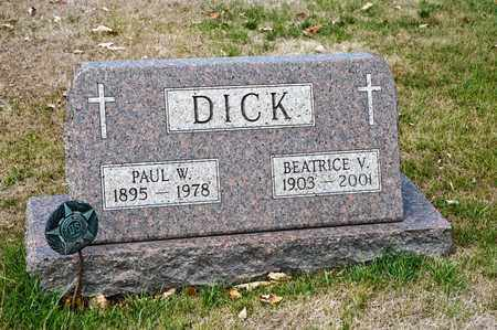 DICK, PAUL W - Richland County, Ohio | PAUL W DICK - Ohio Gravestone Photos