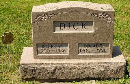 DICK, ODEAL E - Richland County, Ohio | ODEAL E DICK - Ohio Gravestone Photos