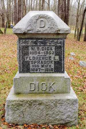 DICK, W S - Richland County, Ohio | W S DICK - Ohio Gravestone Photos