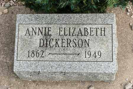DICKERSON, ANNIE ELIZABETH - Richland County, Ohio | ANNIE ELIZABETH DICKERSON - Ohio Gravestone Photos