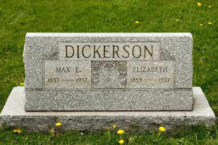 DICKERSON, MAX E - Richland County, Ohio | MAX E DICKERSON - Ohio Gravestone Photos