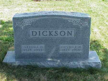 DICKSON, ORVILLE O. - Richland County, Ohio | ORVILLE O. DICKSON - Ohio Gravestone Photos