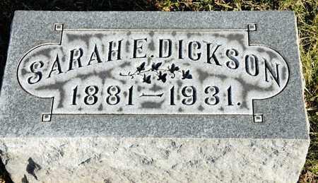 DICKSON, SARAH E - Richland County, Ohio | SARAH E DICKSON - Ohio Gravestone Photos