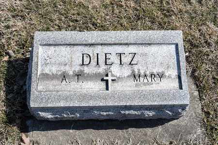 DIETZ, MARY - Richland County, Ohio | MARY DIETZ - Ohio Gravestone Photos
