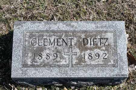 DIETZ, CLEMENT - Richland County, Ohio | CLEMENT DIETZ - Ohio Gravestone Photos